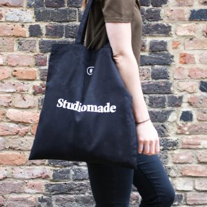 Studiomade tote being worn